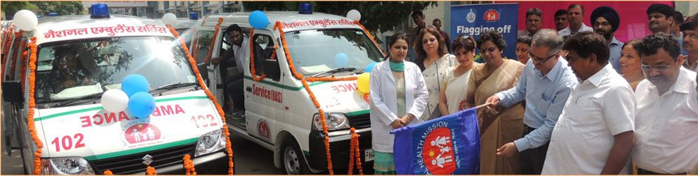 Ambulance Flagging off