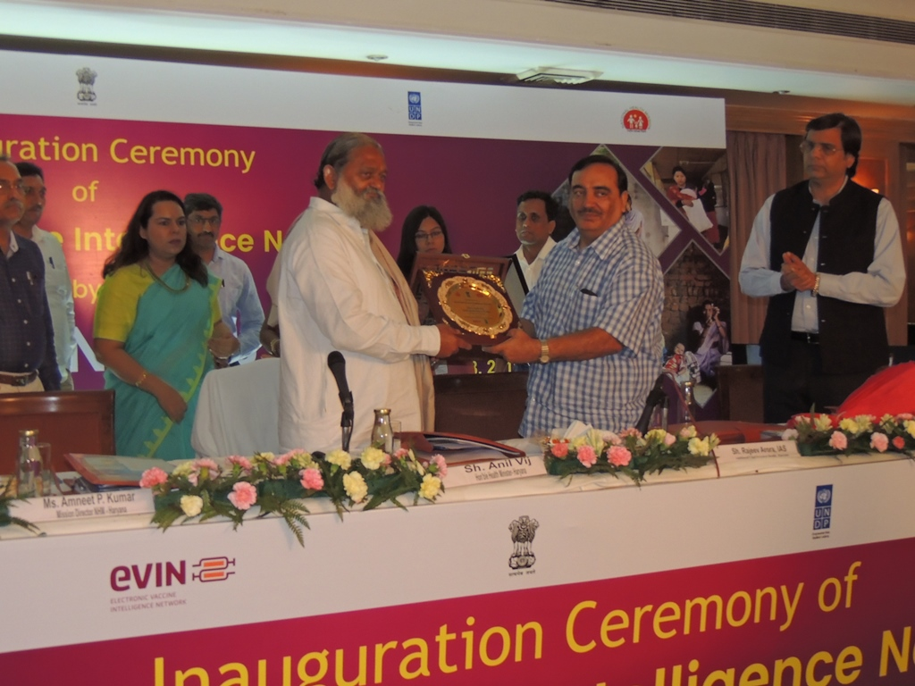 Inauguration Ceremony of eVIN, Safe Delivery App and Asha Mobile App.